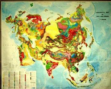 Geologic Map Of Europe.Geological Map Of Asia And Europe 1 5000 000 392 00 China